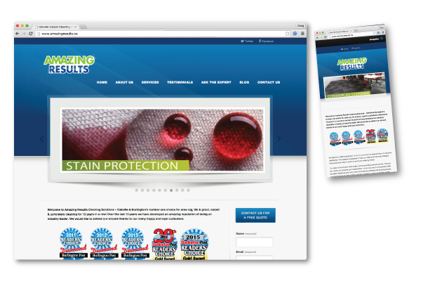 Oakville Website Design - Amazing Results Oakville Carpet Cleaning