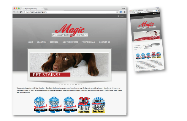 website design oakville - Magic Rug cleaning oakville